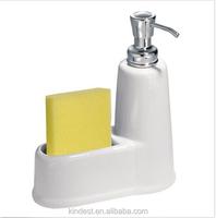 White Round Ceramic Soap Dispenser Pump for Kitchen/Bathroom