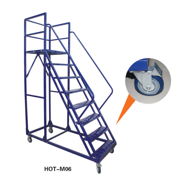 New Design 3m Platform Rolling Ladder Buy Rolling Ladder