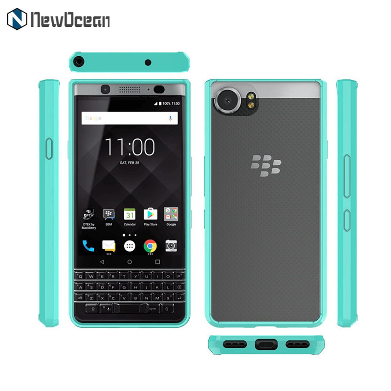 TPU PC Hard back Soft frame Acrylic clear Mobile Phone Case For Blackberry Keyone DTEK70