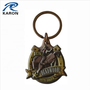 wholesale custom painted 3D magnetic key ring with split ring