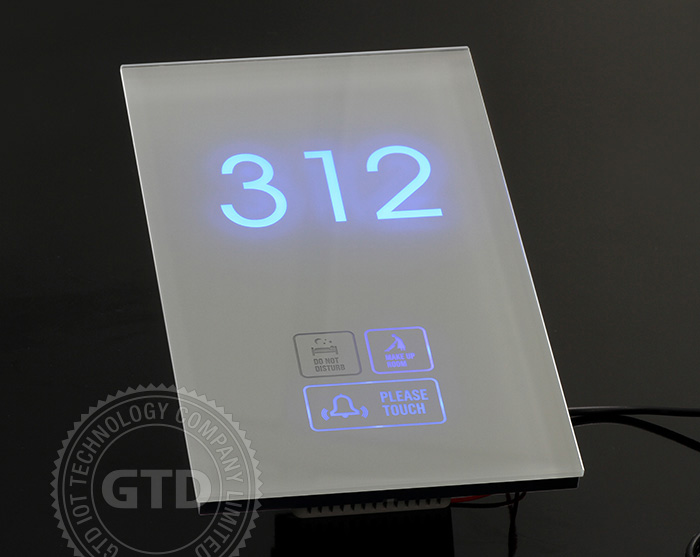 Crystal White Tempered Glass Panel Touch Doorbell Plate