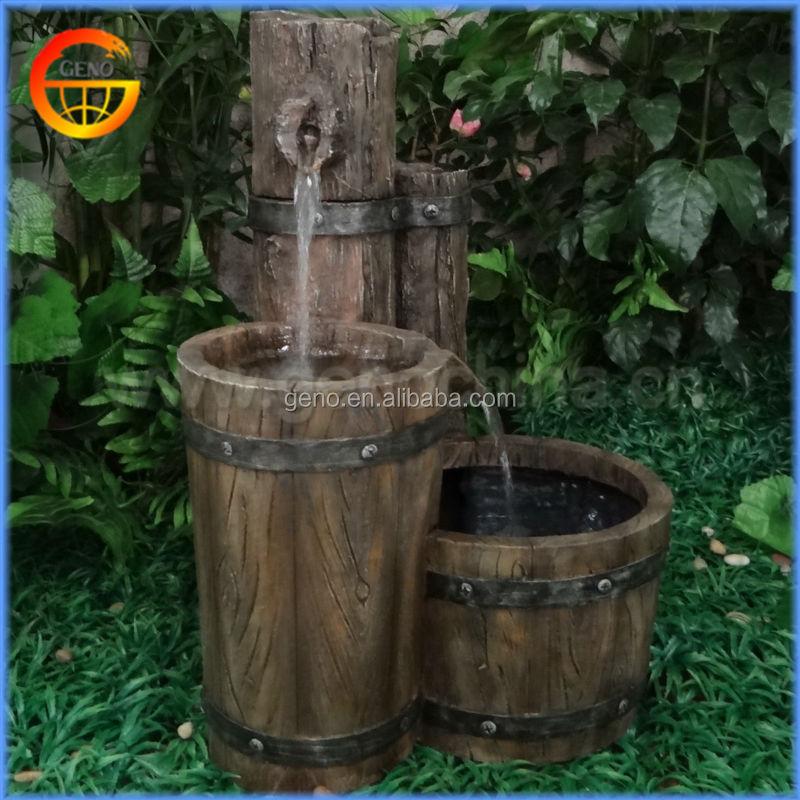 Cl sico barril fuente de agua para decoracion jardin otros - Fuentes de agua decoracion ...