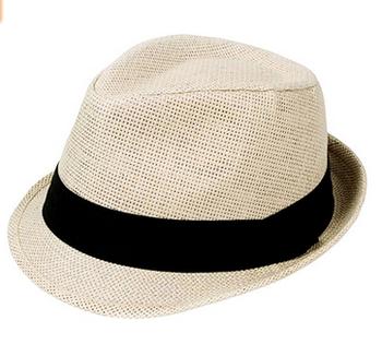 Straw Cowboy Wide Brim Mens Ladies Gangster Fedora Trilby Sun Hat ... 56f28ea96b2