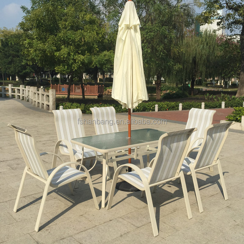 Garden Patio Aluminum Mesh Patio Furniture Bistro Table and Chairs