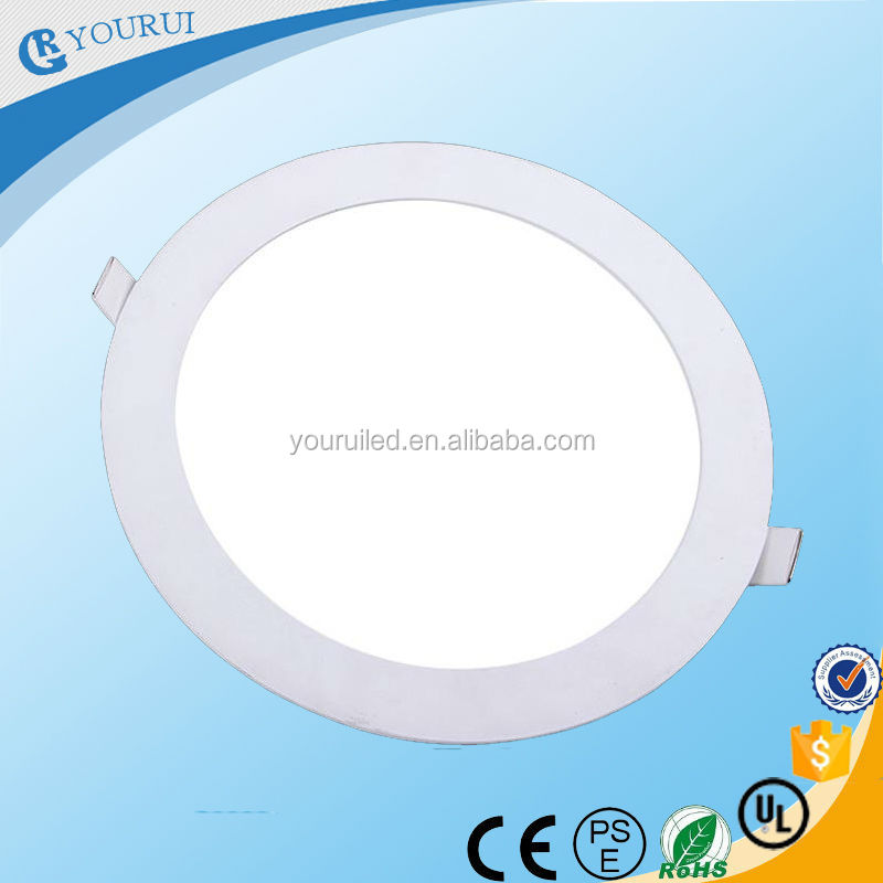 ultra thin round recessed panel led light 15w led display panel light