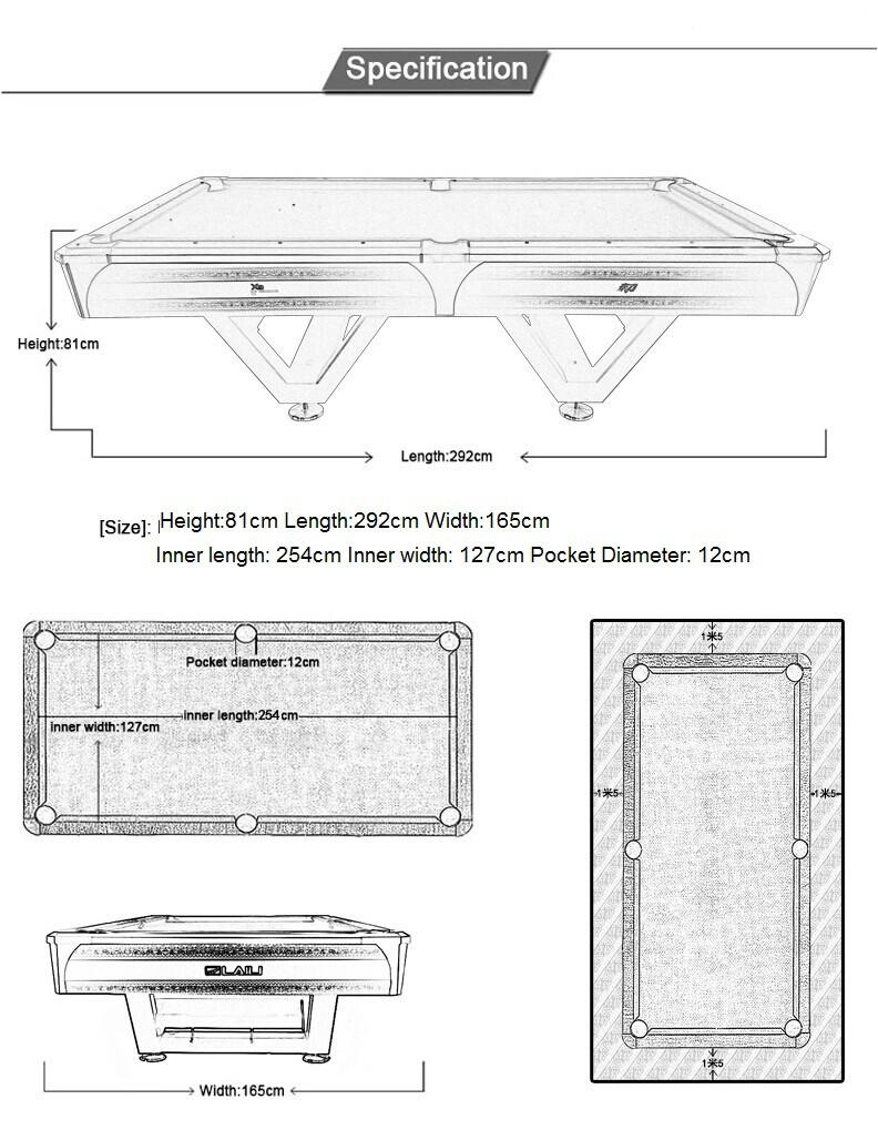 Laili Professional Tournament Billiard Table X3 Pool Table For