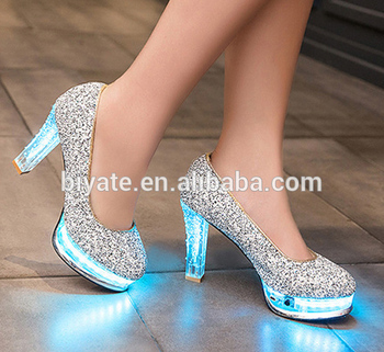 best sneakers a55b5 ebf70 high heel led light up women shoes