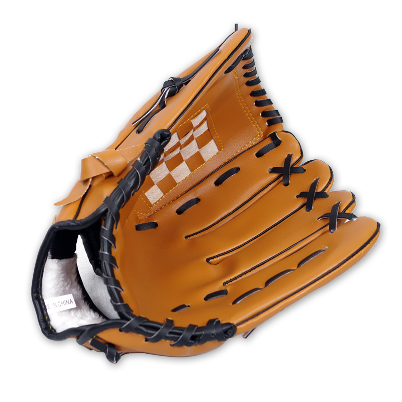 "Genuine baseball glove brown softball gloves youth 10.5 inch Promotion 10.5"" Diamond pitcher bating gloves catcher gloves"