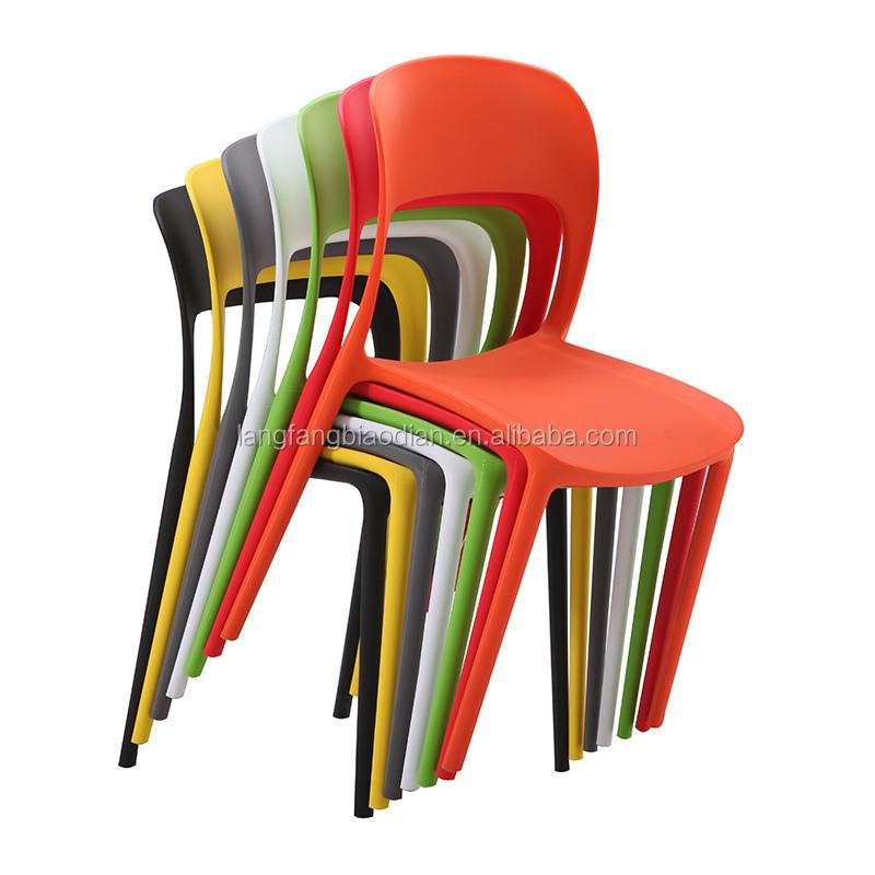 सस्ते प्लास्टिक उच्च वापस Stackable आराम कुर्सियों