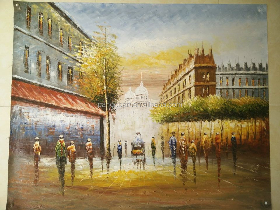 Famous Knife Paris Street Painting Hotel Decor Wall Art - Buy ...
