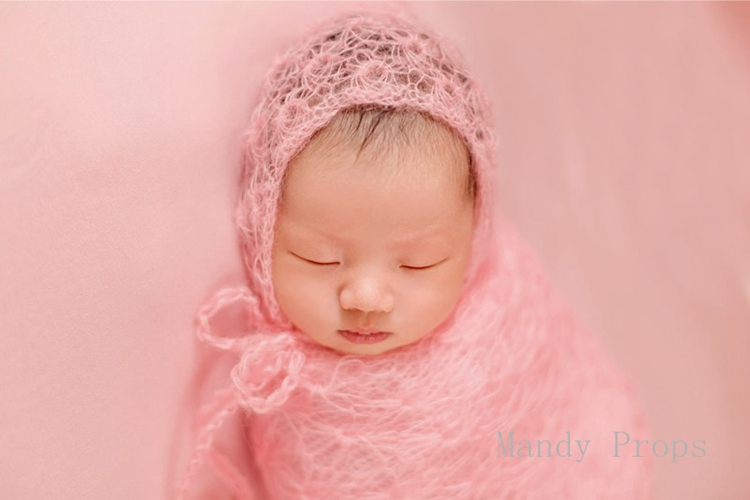 Mohair Mini Lace Wrap for Newborn Photography