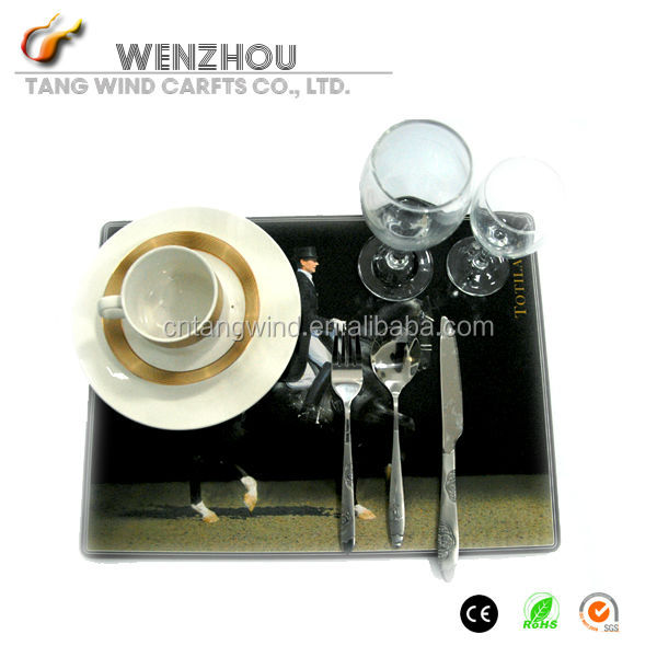 full color printing waterproofing wood Rubber placemat/food table