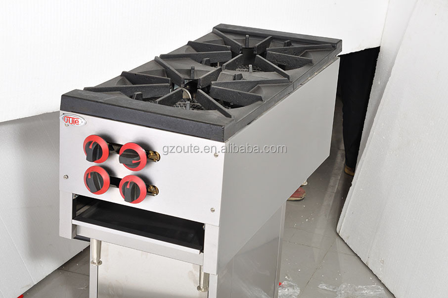 Restaurant kitchen counter top gas cooker with 2 burner gas cooking range (OT-RB-2A)