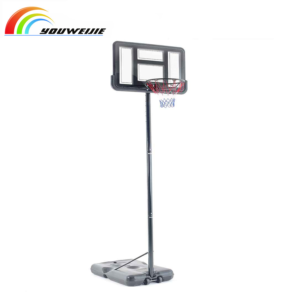 Outdoor portable adjustable basketball hoop stand