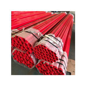 Hot rolled PE coated tube steel plastic composite iron fire fighting pipe