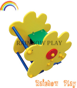 good quality passed EU standard PE material flower customized outdoor rocker and seesaw for park