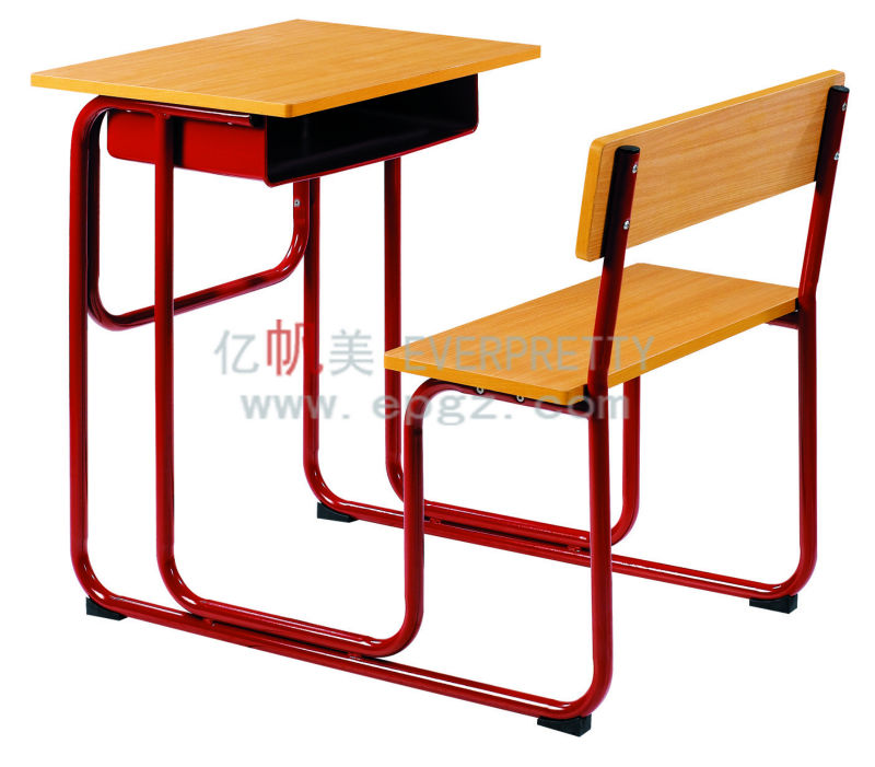 School Chair With Writing Pad Wooden Attached Desk Study Table