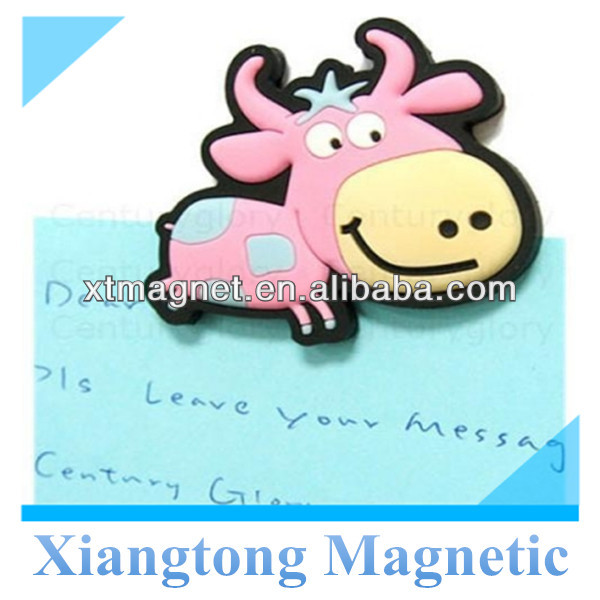 Promotional Pink Happy Cow Magnetic Bookmark for Books/ Customizd Design Logo