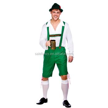 dccac1bf8b Plus Size Bavarian Guy Costume Adult German Lederhosen Beer Oktoberfest  Yiwu Fancy Dress QAMC-2118