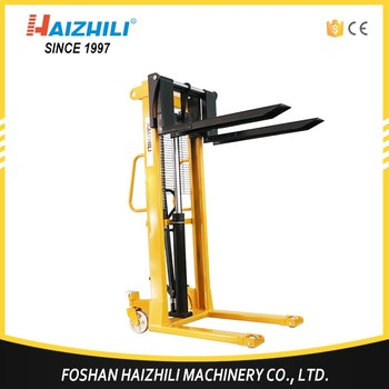 Easy Carry Hydraulic Manual Frame Steel Forklift Stacker With Cheap ...