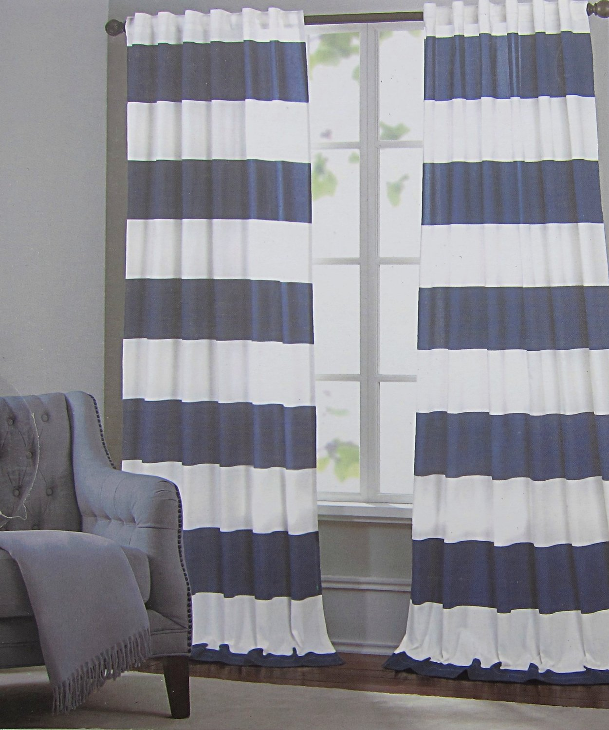 Hillcrest Wide Stripes Curtains 2