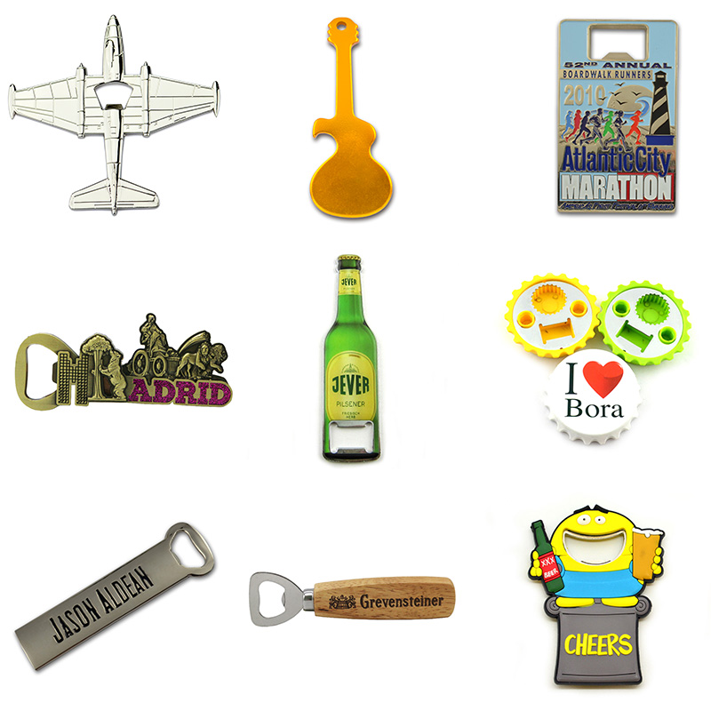 Promotion Cheap Wine Innovative Bottle Opener Manufacturer Custom Personalised Keychain Opener