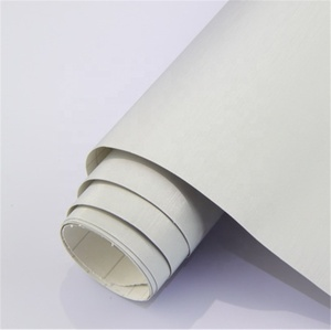 High Quality 1.52*28m Self Adhesive PVC Film Metal Brushed White Car Wrap Vinyl