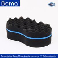 barnershop used hair sponge,wave shape hair style control hair sponge,big practical cirly hair making tool hair sponge