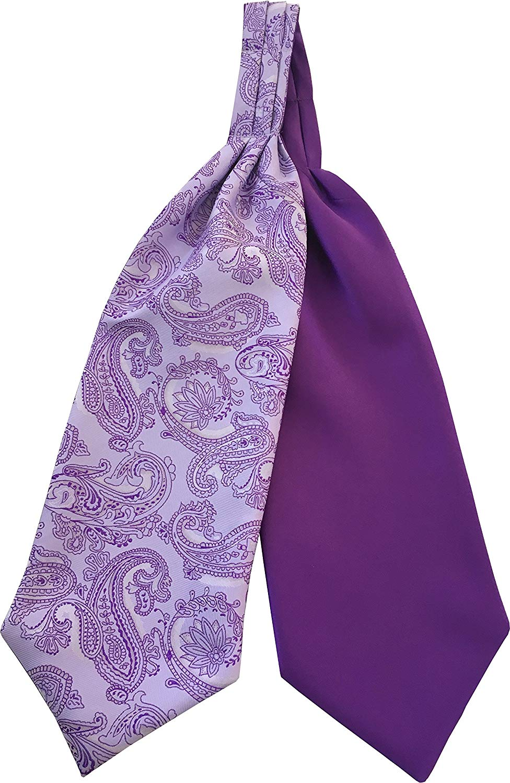 Lavender Orange Blue Silk Ascot