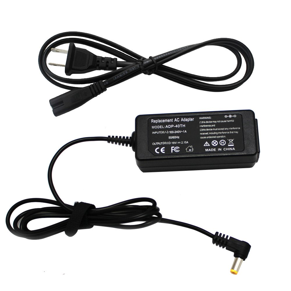 ROCKETY New 19V 2.15A 5.51.7mm AC Adapter Charger For Acer 521 533 532H NAV50 ADP-40TH DA-40A19 AK.040AP.024 AP.04001.002 A13-040N3A PA-1300-04 LC.ADT00.06 W10- 040NLA