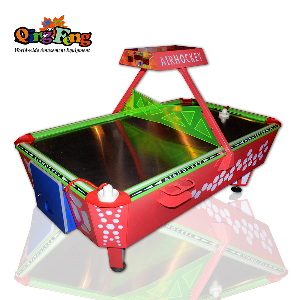 Qingfeng new arrival Colorful 4 person air hockey table game machine digital scoring air hockey table