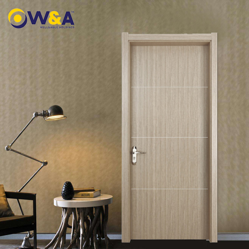 (DK-30)Fire-Resist Waterproof Eco-Friendly WPC Door for Bedroom Bathroom