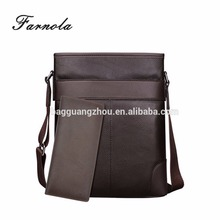 2017 practical brown genuine leather men messenger bag shoulder bag