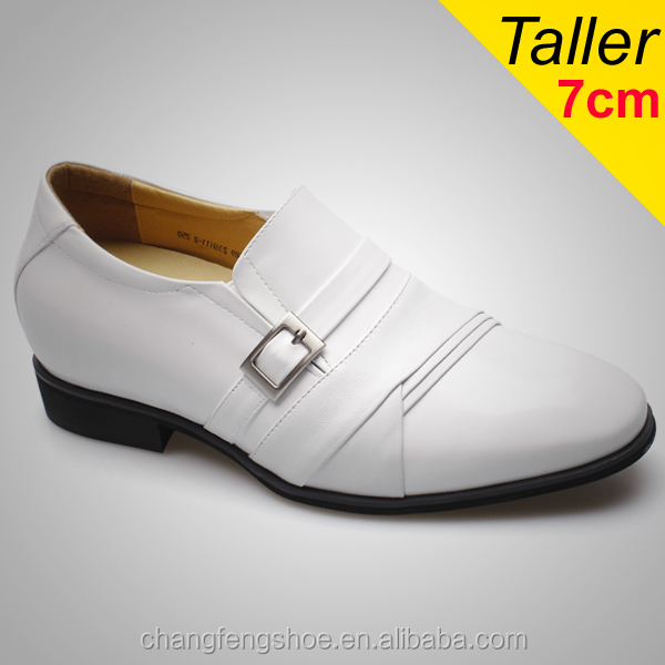 Latest Model Men White Dress Shoes Genuine Leather Wedding Shoes