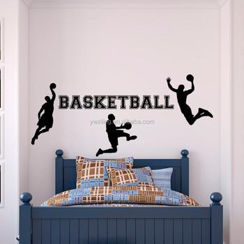 Ya214 Sport Muurtattoo Vinyl Sticker Basketbal Speler Voor Jongens ...