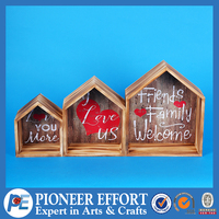 Wooden house Hanging Wall Decoration with saying