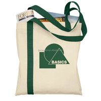 zipper tote bag of 12 oz. canvas.Full length top inside zippered pocket