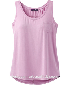Summer Wholesale a Line Women 100 Cotton Plain Tank Top