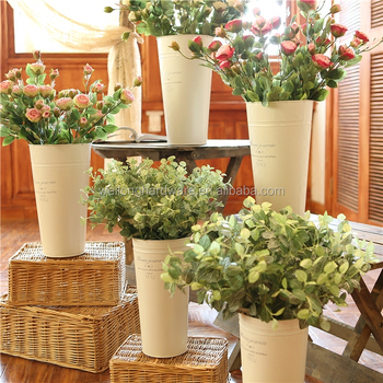 Whole Large Round Square Galvanized Metal Flower Pots And Vases