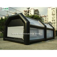 Big enclosed inflatable football court for adults n children made in Ultimate Inflatables