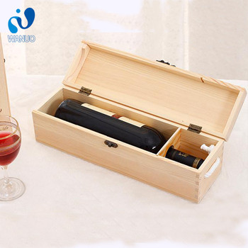 WanuoCraft Factory Price Single Wine Glass Box,Wine Box Wood,Wooden Wine Box