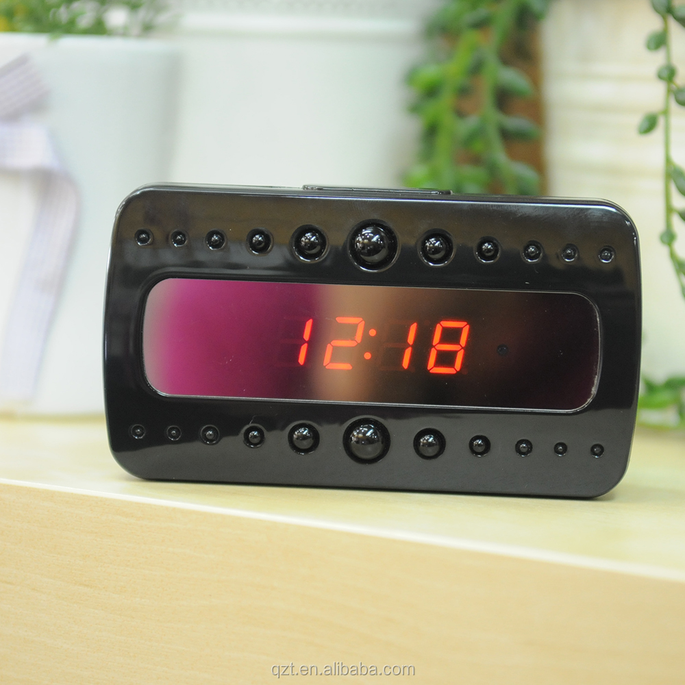 HD 1080P wireless remote control 5MP <strong>V26</strong> ten super night vision lights spy camera clock