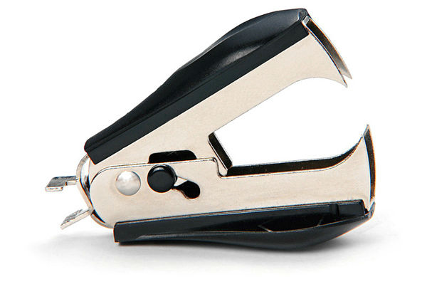 metal and plastic hand staple remover and letter opener