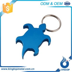 Decorate Metal Turtle Design Keychain Customised Key Holders For Promotion