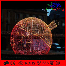 outdoor christmas decoration light red 3d motif huge ball light