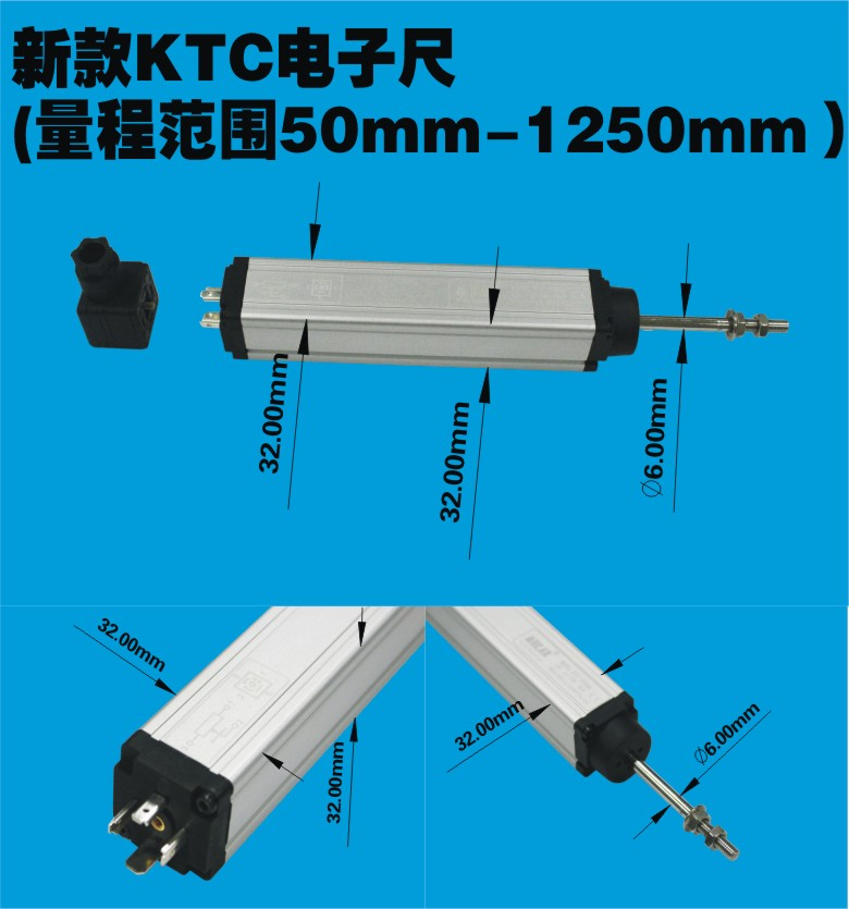 Linear Displacement Transducer KTC  Position Sensor for Injection Molding Machine