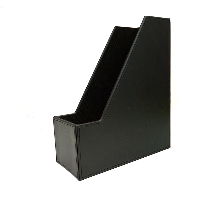 luxury black leather storage box for stationery