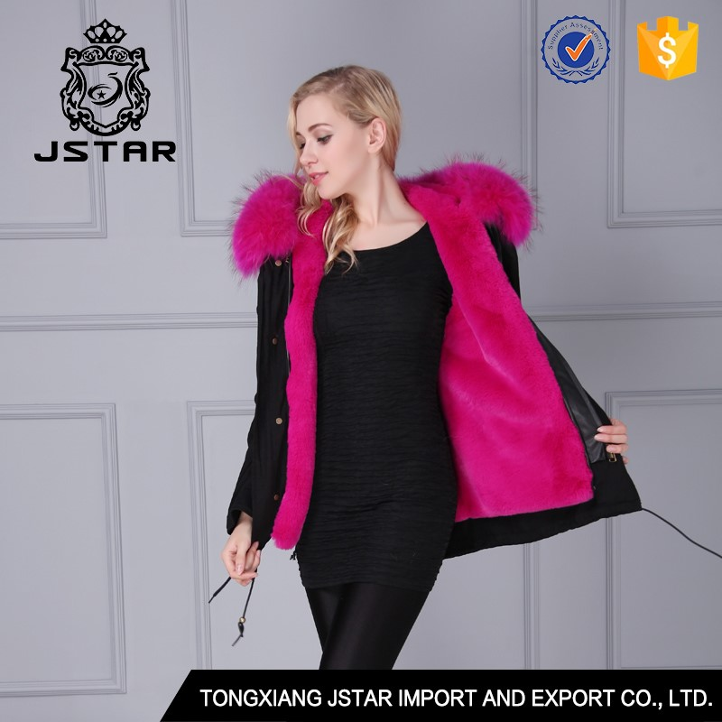 Elegant and beautiful girls faux black fur coat with big fur hooded