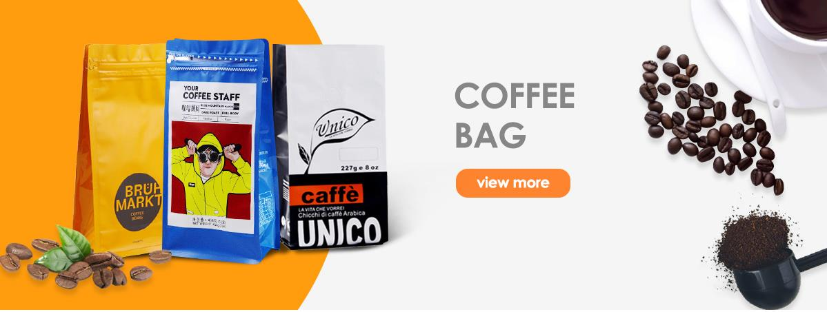 Clear Front Stand Up Foil Bag Reusable Aluminum Foil Zip luxury resealable coffee flat bottom bag