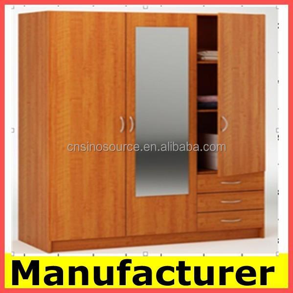Diseñador De Madera Almirah Armario Con Espejo Precio Fabricante ...